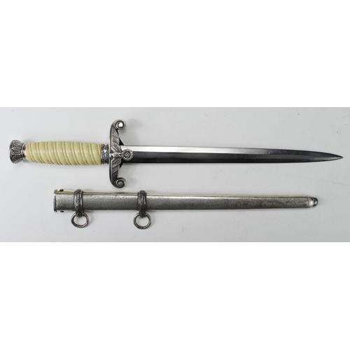 40 - German Nazi Army Dagger, with scabbard, blade maker marked 'WKC Solingen'....