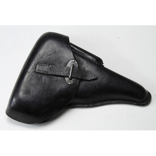 51 - German Nazi quality black leather Walther P.38 holster. Holster stamped 'P.38' 'bml/43' and with waf...