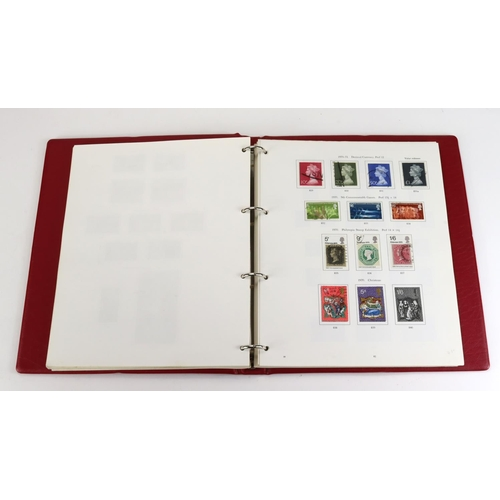 37 - GB - collection 1840-1979 stamps in SG red printed album with Penny Black, surface-printed and reven...
