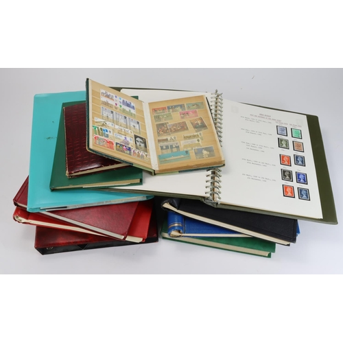 45 - GB - general range of stamps in approx 11x stockbooks or albums....