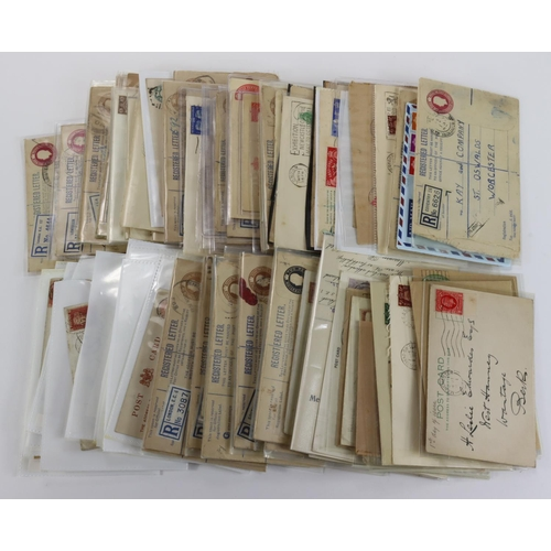 47 - GB - green shoebox of QV to KGVI material, including 1d Red Plates, Registered Letters, used Station...