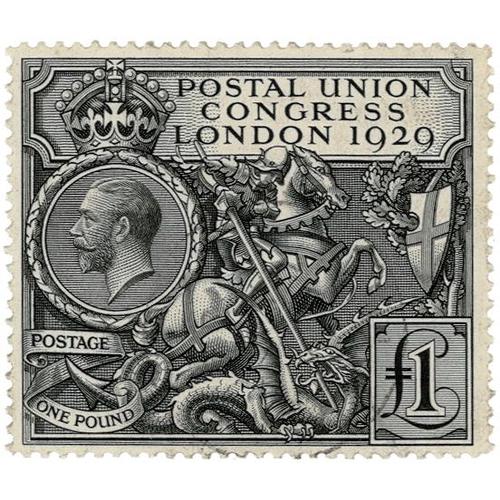 48 - GB - GV 1929 PUC £1 black, SG438, good perfs, VFU, cat £550...