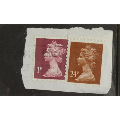 61 - GB - postal forgery Machin 24p stamp produced in 1993 to defraud the PO, commercially used and tied ...