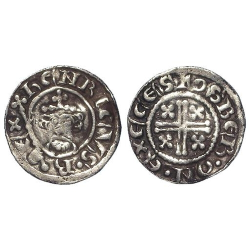 744 - Henry II (1154-1189), Short Cross Penny, class 1a5, Exeter: +OSBER.ON.EXECES, 1.32g, light crease F-...