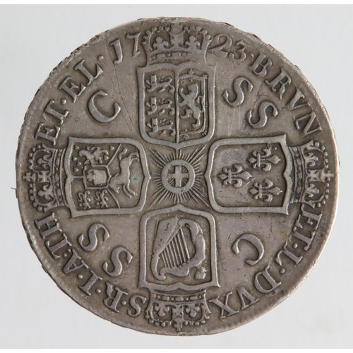 86 - Crown 1723 DECIMO, SSC in angles, S.3640, VF, a few light scratches.