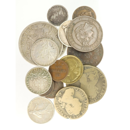 1112 - France (16) 17th-20thC assortment including silver.