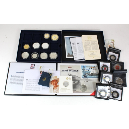 1116 - GB & Commonwealth Proof & BU commemorative coins & medals (20) most if not all silver.