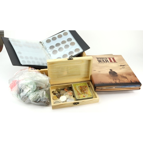 1127 - GB & World Coins, 19th-20thC mostly base metal accumulation including GB Predecimal, mixed world coi...