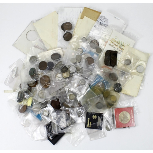 1128 - GB & World Coins, accumulation in a shoebox, some silver and sets noted: 2x 1989 £2 coin presentatio...