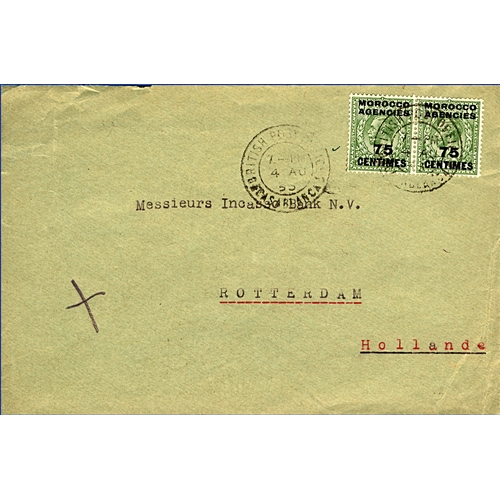 10 - Great Britain Morocco Agencies 1938 cover from the British West African Bank Casablanca to Rotterdam...