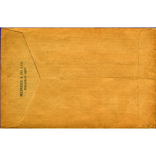 15 - Great Britain Morocco Agencies 1936 (26 OC) cover to Luton England from Selfridge & Co. Ltd Philatel...