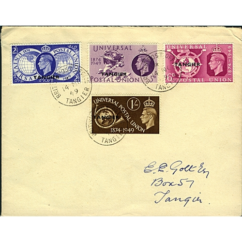21 - Great Britain Tangier International Zone 1949 (14 NO) cover local use to Tangier with UPU set sg276/...