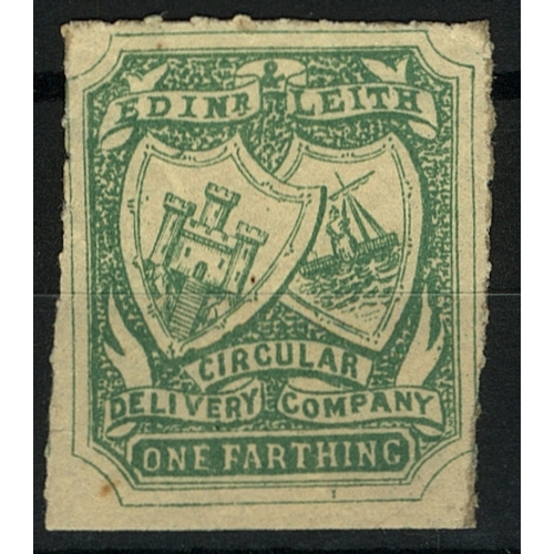 27 - Great Britain Private Carrier Edinburgh & Leith Circular Delivery Co. ¼d green Roul Mint...