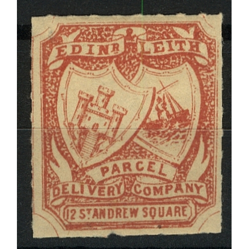 29 - Great Britain Private Carrier Edinburgh & Leith Parcel Delivery Co. 12 St Andrews Square red (no val...
