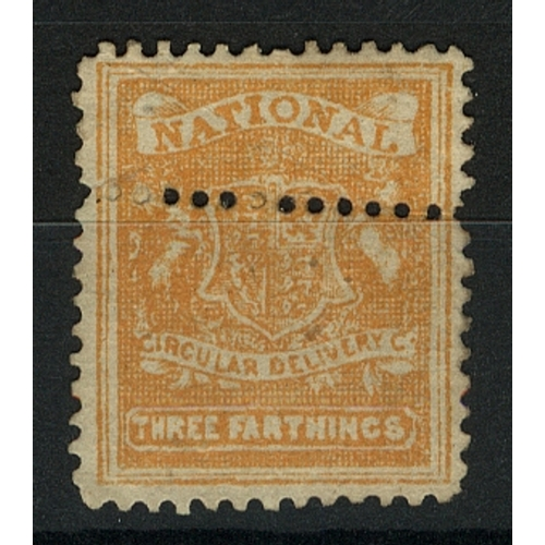 32 - Great Britain Private Carrier National Circular Delivery Co. ¾ d orange perf (with additional horizo...