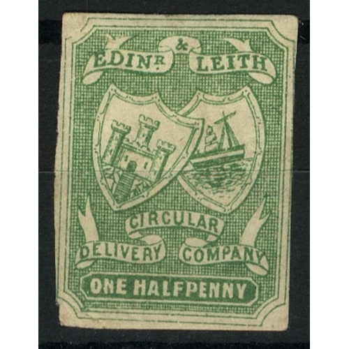 36 - Great Britain Private Carrier Edinburgh & Leith Circular Delivery Co. ½d green imperf Mint...
