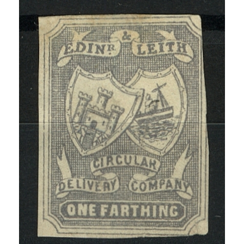 37 - Great Britain Private Carrier Edinburgh & Leith Circular Delivery Co. ½d grey imperf Mint...
