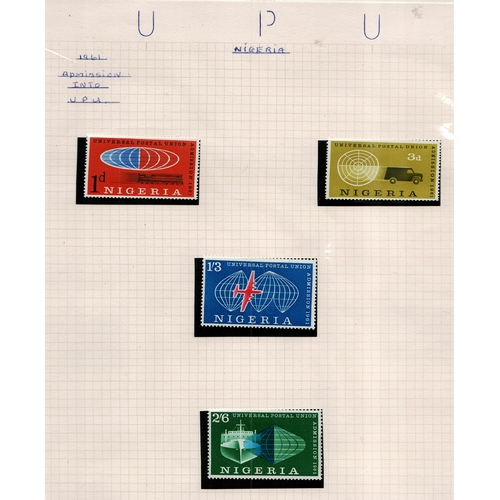 41 - Worldwide 1883/1974 UPU thematic based collection on 164 pages to include a wealth of information go...