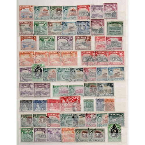 46 - British Commonwealth pre-1965 (QV to QEII) A4 8/16 stockbook housing a good range of sets and single...