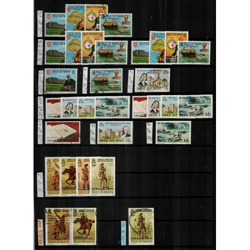47 - Isle of Man A4 15/30 stockbook housing a range of commemorative and definitive sets & singles ptsa £...