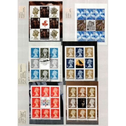 49 - Great Britain 2000/06 A4 8/16 stockbook housing a strong collection of commemorative sets sheetlets ...