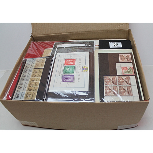 56 - Worldwide box of collections and part collections stockcards and packets good range of issues & coun...