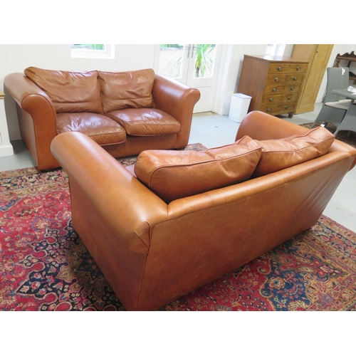 Phenomenal A Pair Of Laura Ashley Burgess Old Small Leather 2 Seater Lamtechconsult Wood Chair Design Ideas Lamtechconsultcom