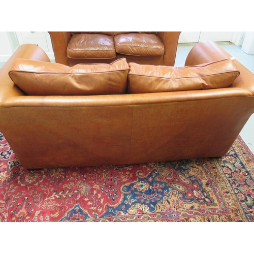 Stupendous A Pair Of Laura Ashley Burgess Old Small Leather 2 Seater Lamtechconsult Wood Chair Design Ideas Lamtechconsultcom