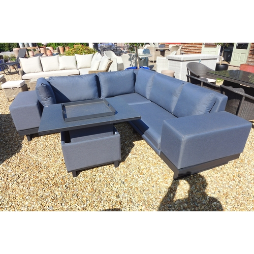 47 - A Bramblecrest Jasmine Square modular 3 seat sofa with removable arm and an adjustable table...
