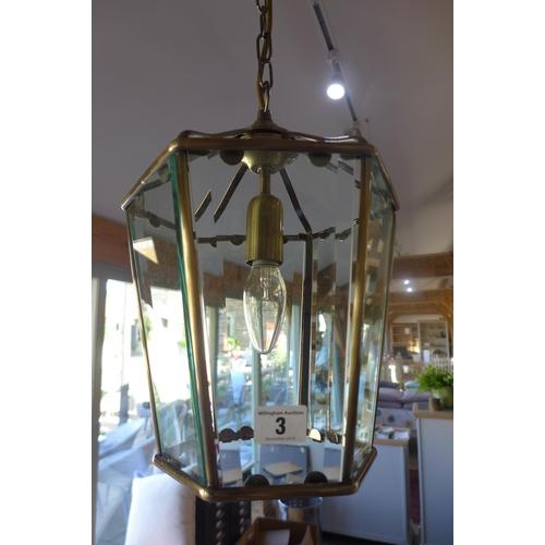 3 - A modern hanging lantern - as new...