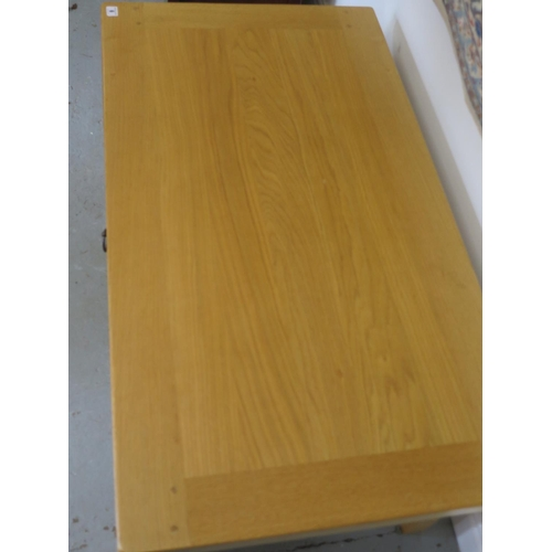 6 - A John Lewis oak coffee table with a drawer - 45cm H x 110cm x 60cm...