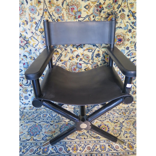 Sensational A Ralph Lauren Holbrook Directors Chair In Black Leather Ibusinesslaw Wood Chair Design Ideas Ibusinesslaworg