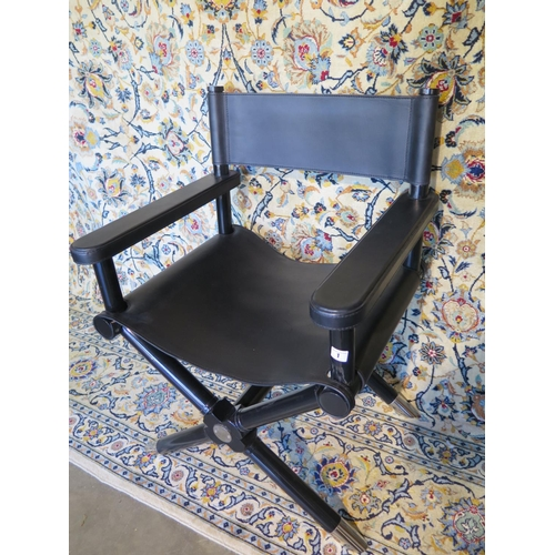 Outstanding A Ralph Lauren Holbrook Directors Chair In Black Leather Ibusinesslaw Wood Chair Design Ideas Ibusinesslaworg