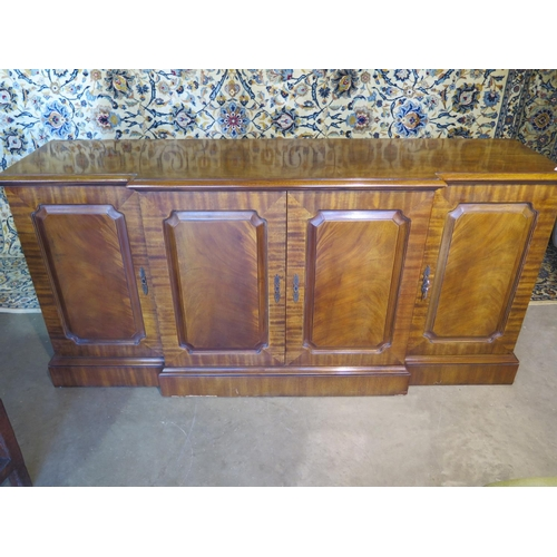3 - A good quality mahogany breakfront sideboard with three internal pull out drawers - new ex display -...