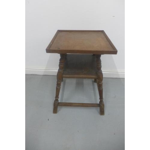 2 - A 19th Century oak side table 67cm H x 45cm x 45cm...