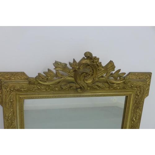 3 - A 19th Century gilt ornate wall mirror - 120cm H x 82cm...