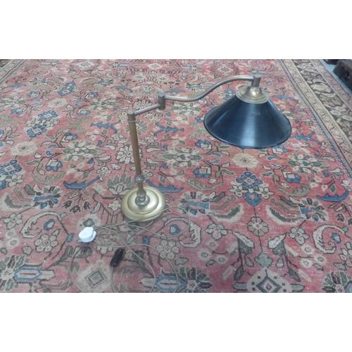 43 - A modern brass effect reading lamp...