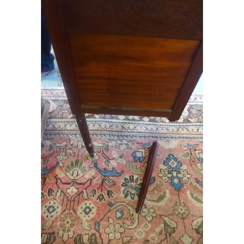 44 - Two marble top continental bedside cupboards, one with a broken leg...