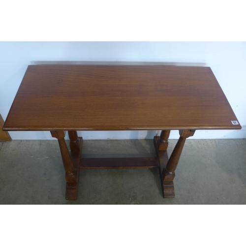 53 - A small oak refectory type table, 73cm tall x 106cm x 48cm...