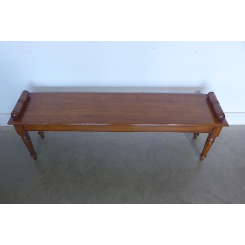 38 - A Victorian style oak window seat - made by a local craftsman to a high standard - 51cm tall x 146cm...