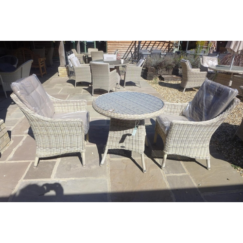 68 - A Bramblecrest Ascot bistro set with two armchairs and cushions, RRP £653, ex display...