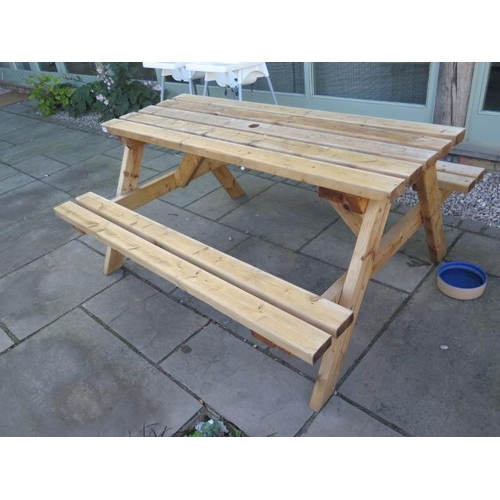 48 - A timber picnic bench...