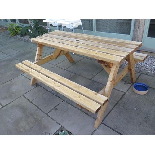 47 - A timber picnic bench...