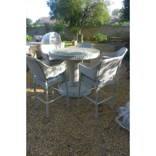 44 - A Bramblecrest Monterey 120cm round bar table with five bar chairs, ex-display...