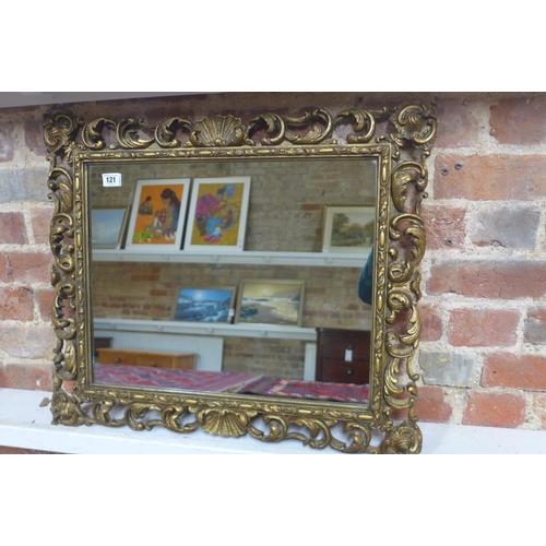 41 - An early 20th century gilt framed mirror, 57cm x 68cm...