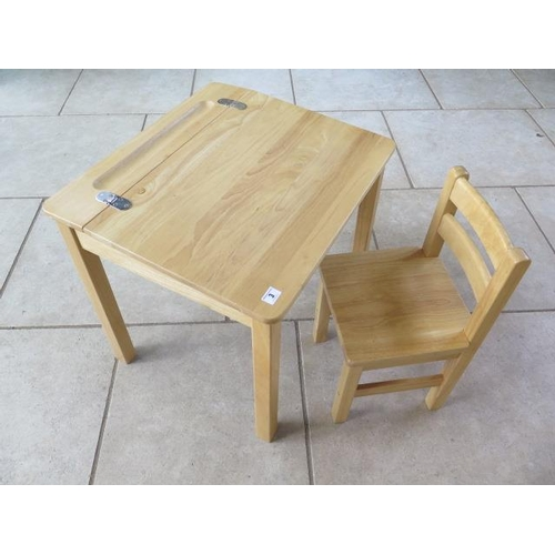 3 - A pin furniture childs school type desk and chair...