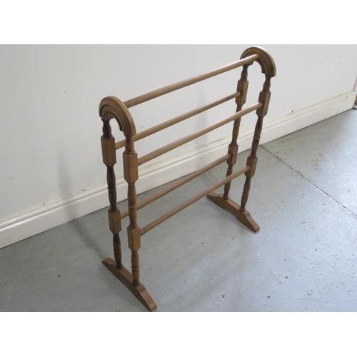 3 - A beech towel rail...