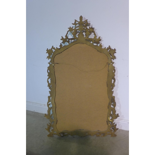 21 - A modern ornate gilt mirror, 143cm x 80cm...