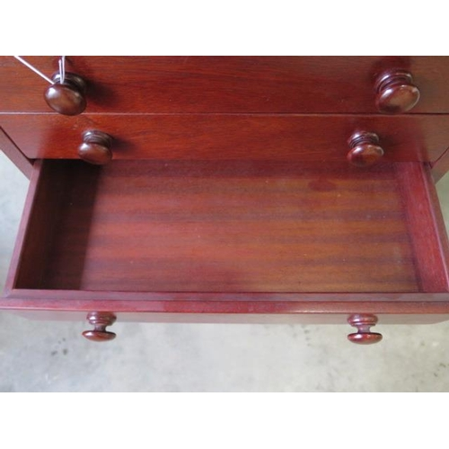 19 - A 20th century mahogany seven drawer collectors chest, 65cm tall x 49cm x 36cm, in good polished con...
