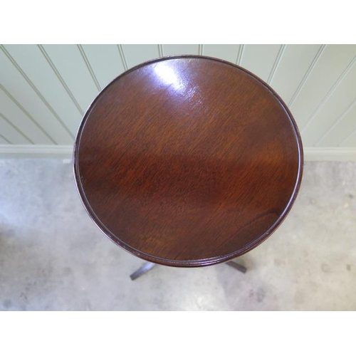 20 - A 20th century fluted and turned tripod plant stand in good polished condition